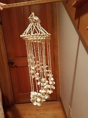 "Vintage Sea Shell Decorative Hanging 30""  Retro for Patio Beach Cottage"