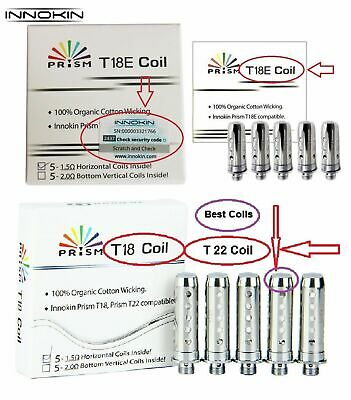 GENUINE INNOKIN T18E ENDURA PRISM COILS T18 II 1,5 or 10 PACK - FREE SHIPPING UK