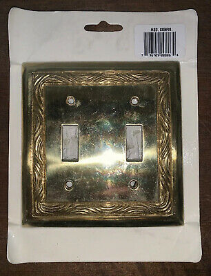 Solid Brass Decorative Switchplate. Faceplate. Light Switch. Home Decor.