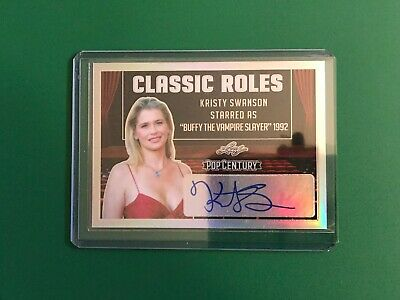 2019 Leaf Pop Century Autograph Kristy Swanson Classic Roles Buffy Vampire