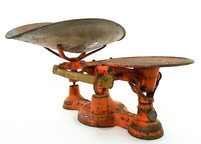 Rare 19Th C John Chatillon & Sons Ny Antique Paint Decorated Cast Iron #4 Scale