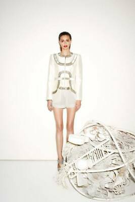 "BNWT  SASS & BIDE   ""Take A Moment""  Embellished Silk Jacket -  Size 8 - $1500+"