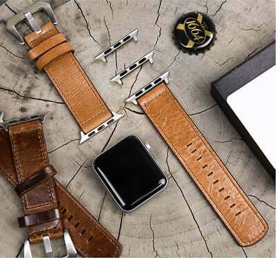 Luxury Retro Leather Band Wrist Strap For Apple Watch Series Classic 4 3 2 1 US