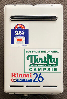 NEW - Rinnai Infinity26 Continuous Flow Ext Hot Water Heater - LPG or Nat Gas
