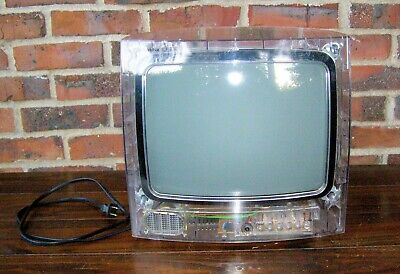 RCA Secureview Clear TV 13 inch Clear TV allows view of internal parts Retro