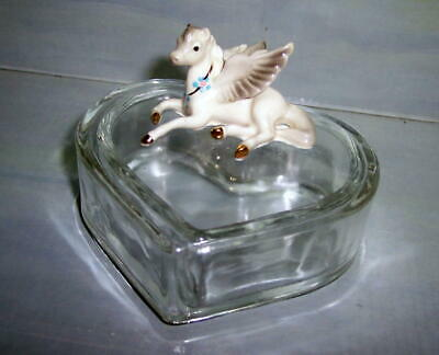 Hagen-Renaker Pegasus On Glass Trinket Box