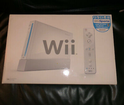 Nintendo Wii Console System Rvl-001 Complete In Original Box (Ss2030133)