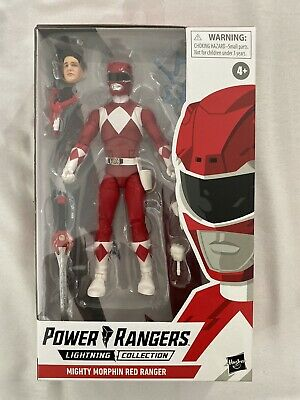 Hasbro Mighty Morphin Power Rangers Red Ranger Figure Lightning Collection