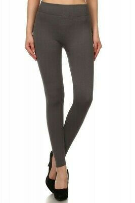 Grey Fur Lined Leggings Body Slimming Style!