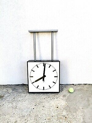 Railway Station Clock Double Sided Vintage Clock