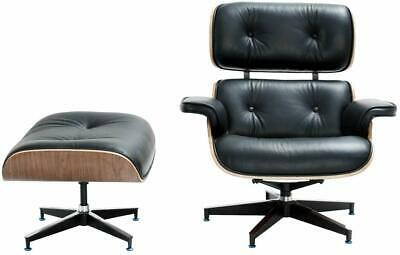For Eames Lounge Chair and Ottoman Replica, Premium Leather, Walnut, Premium
