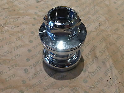 """Tange AW-27 old school BMX headset 1/"""" threaded 32.7mm cups 26.4mm crown CHROME"""