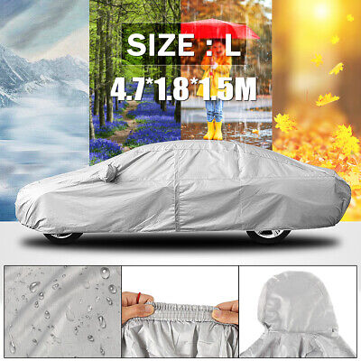 Waterproof Large L Full Car Cover Bag Breathable Dust UV Protect Indoor Outdoor