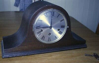 Haller Mantle clock for spares or repair.comes with key and broken spring barrel