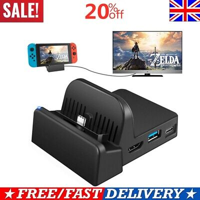 Cooling For Nintendo Switch NS HDMI 4K Adapter TV Charger Charging Dock Stand*