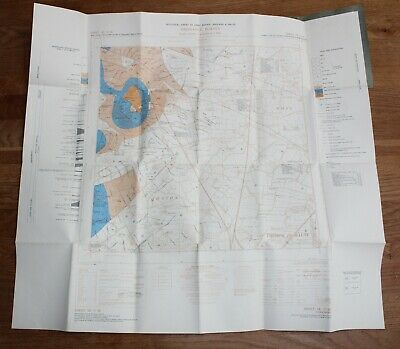 Ordnance Survey GEOLOGICAL Map SE 51 SE Yorkshire 6 inch to 1 mile Owston Moss