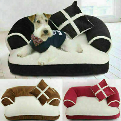 Puppy Bed Doggy Kennel Cushion Basket Pad Pet Cat Dog Bed Soft Couch Sofa Chair