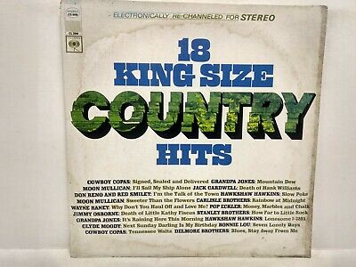 RARE 18 King Size Country Hits Columbia Vinyl Record lp1250