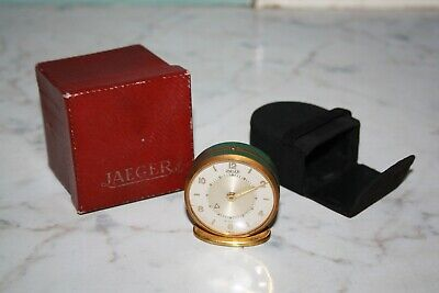 Rare Vintage 8 day JAEGER travel clock for parts or repair - original case & box