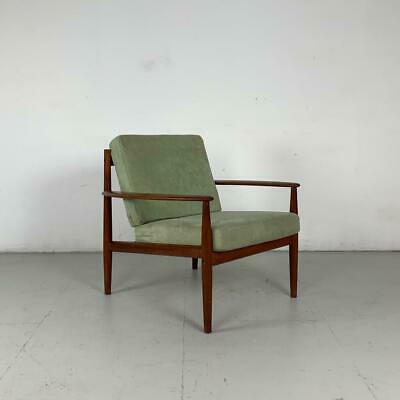 Grete Jalk Lounge Arm Chair France & Son Danish Midcentury In Green  #2818