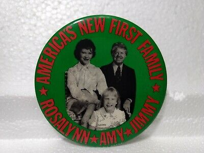 "Vintage America's Nuevo First Family Rosalynn Amy Jimmy 3"" Político Pin pin3003"