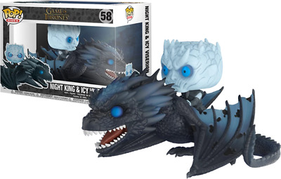 Funko Pop! Night King & Icy Viserion (Rides, Glow in the Dark, Game of Thrones)