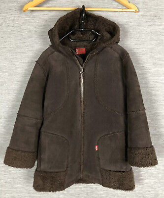 Levis Red Tab Kids Girls Borg Coat Jacket Size 5 Years old Brown