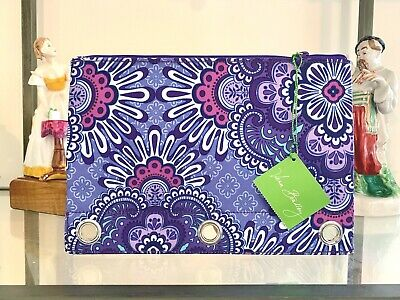 Vera Bradley Pencil Pouch LILAC TAPESTRY 669 Pen Case for Note Book Binder NWT