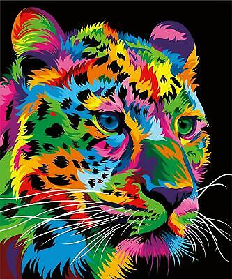 Paint By Numbers Kit - Adults / Beginners - Leopard - 20in x 16in