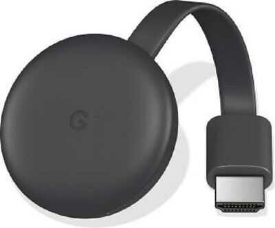NEW Google Chromecast (3rd Generation) Media Streamer (Black)
