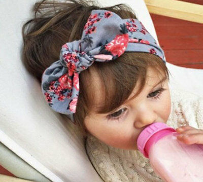 Baby Girls Infant Toddler Flower Bow Knot Multicolor Hairband Turban Girls Band