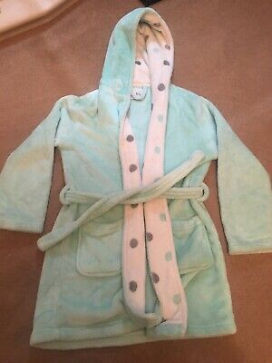 Girls New Look Mint Green Dressing Gown Small 11-12 Years