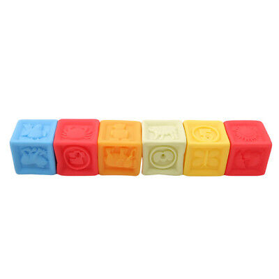 Building Block Bath Toys Floating Squeeze Sound Squeaky Baby Bathing Toys one
