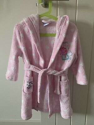 peppa pig dressing gown 2-3