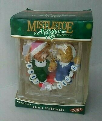 "Mistletoe Magic Collection ""Best Friends"" Christmas Tree Ornament - New"
