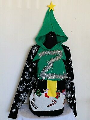 NEW - YOU LOOK UGLY TODAY  CHRISTMAS Tree SWEATER - S