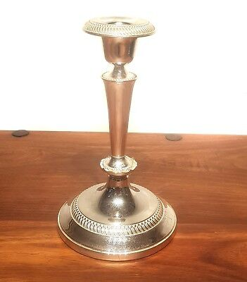 Stunning LARGE SILVER PLATED Candlestick Candle Holder