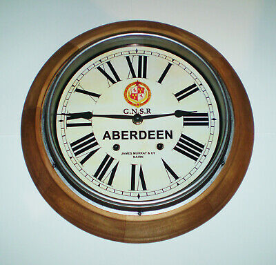 GNSR Great North of Scotland Railway Styled Station Wall Clock, ABERDEEN Station
