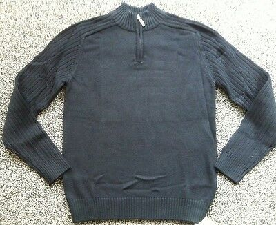 BNWTS Boys Jumper Black Marks & Spencer 13-14 Years Quality Pure Cotton