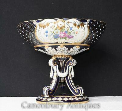 Single Sevres Porcelain Urn on Stand Floral Tureen