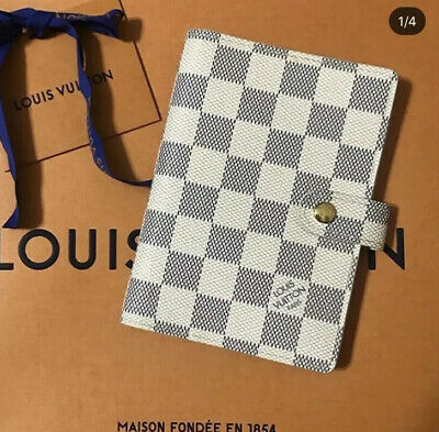 Louis Vuitton Damier Azur Agenda PM Planner Notebook Passport Cover