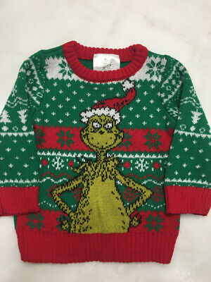 The Grinch Baby 3-6 months Green Christmas Holiday Sweater Ugly Sweater Party U5