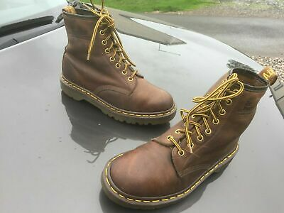 Dr Martens 1460 brown gaucho leather boots UK 6 EU 39 Made in England