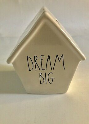 Rae Dunn Christmas By Magenta Ceramic DREAM BIG Piggy Bank Birdhouse VHTF