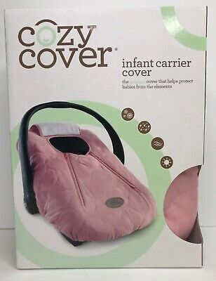 Cozy Safe Baby Infant Carrier Car Seat Canopy Cover w/ Dual Zipper Pink Quilt