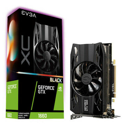 eVGA 06G-P4-1161-KR Video Card NVIDIA GeForce GTX 1660 XC 6GB GDDR5 192Bit