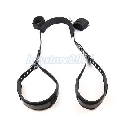 Adult Love Aid Restraints Kit Hand Cuffs Open Leg Bondage Straps SM Thigh Cuffs
