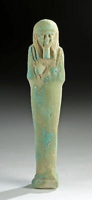 Egyptian Late Dynastic Glazed Faience Ushabti