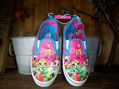 Shopkins Girls Casual Shoes Size 13 Color Pink Blue Kids Cartoon Slippers New