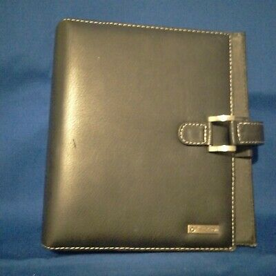 Franklin Covey Black Planner Binder Date Book 7 Rings Vinyl